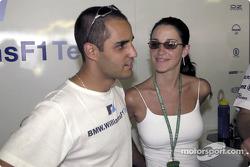 Juan Pablo Montoya y su novia Connie