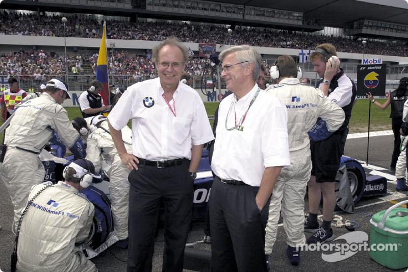 Before the start: Dr Burkhard Goeschel (Board member for Development BMW Group) and Professsor Joachim Milberg (Chairman of the Board BMW Group)