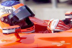 Rubens Barrichello antes de la carrera