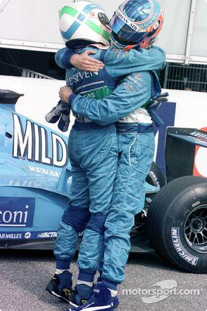 Giancarlo Fisichella and Jenson Button