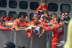 Rubens Barrichello and Team Ferrari