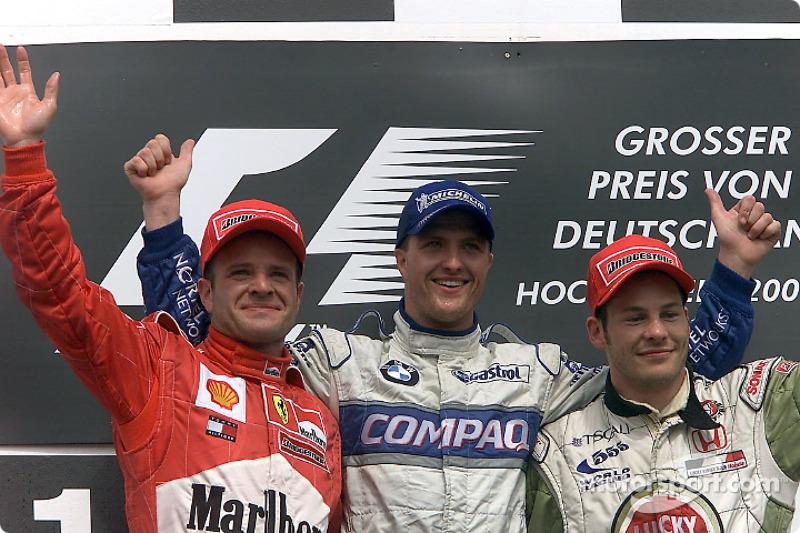2001: 1. Ralf Schumacher, 2. Rubens Barrichello, 3. Jacques Villeneuve