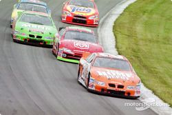Tony Stewart leading the field