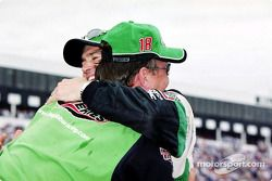 Bobby Labonte celebrating