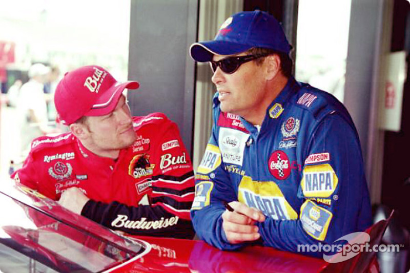 Dale Earnhardt Jr. and Michael Waltrip