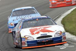 Jimmy Spencer leads teammate Todd Bodine