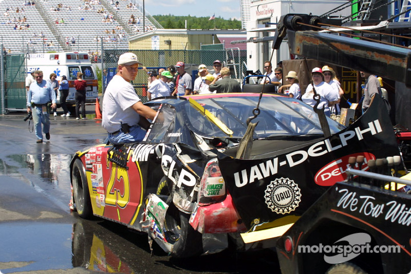 Jerry Nadeau's car after an accident
