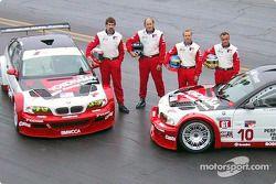 The all-new, V8-powered, Team PTG BMW M3 GTRs with drivers Boris Said, Hans Stuck, Bill Auberlen and Niclas Jonsson