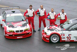 The all-new, V8-powered, Team PTG BMW M3 GTRs with drivers Boris Said, Hans Stuck, Bill Auberlen and Niclas Jonsson