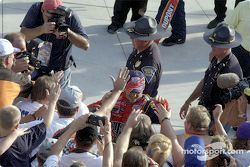 Jeff Gordon celebrating
