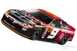 Un pequeño adelanto del nuevo patrón de pintura en los Dodge Dealers Intrepid R/T de Bill Elliott y