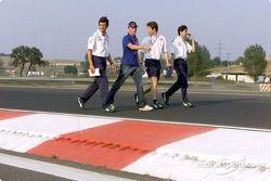 Kimi Raikkonen checking the track