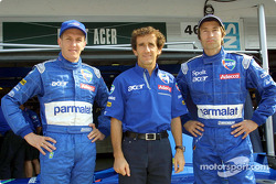 Luciano Burti, Alain Prost y Heinz-Harald Frentzen