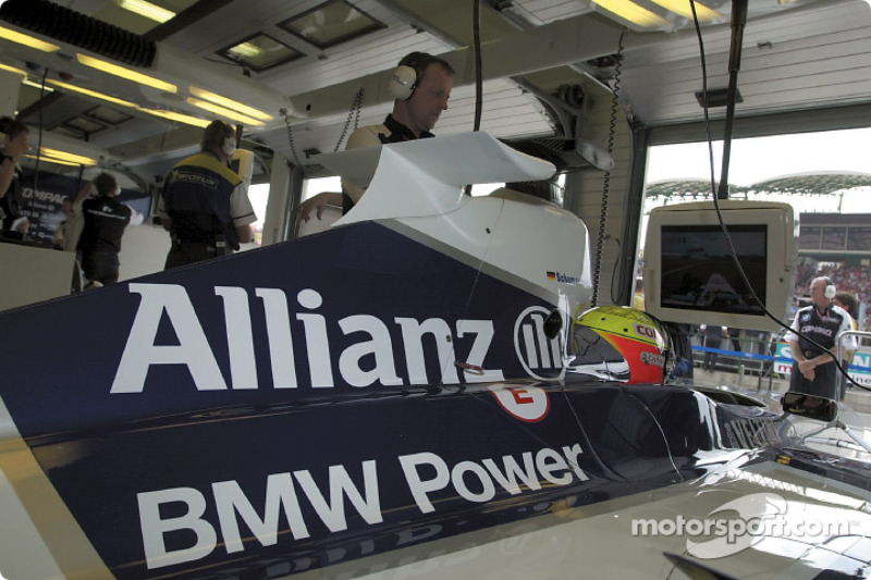 Ralf Schumacher waiting in his car
