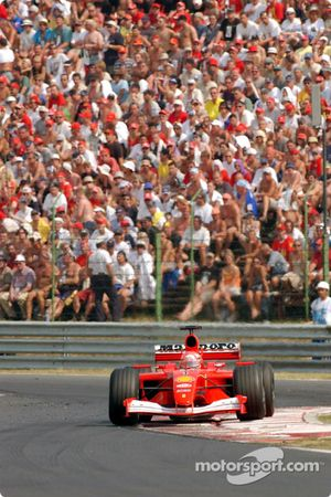 Michael Schumacher on his way to a 51th victory