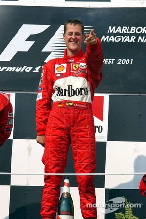 Race winner and 2001 World Champion Michael Schumacher