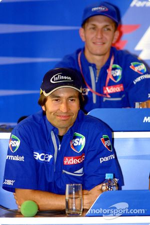 Thursday press conference: Heinz-Harald Frentzen and Luciano Burti
