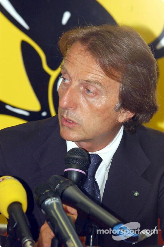 Conferencia de prensa en la pista Fiorano: Luca di Montezemelo