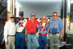 Carl Haas, Jimmy Spencer, Christian Fittipaldi, Todd Bodine et Travis Carter