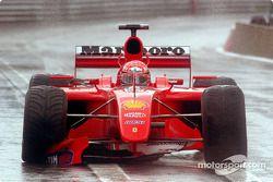 Michael Schumacher driving hard
