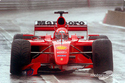 Michael Schumacher driving hard
