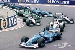 Premier départ : Giancarlo Fisichella devant Jacques Villeneuve