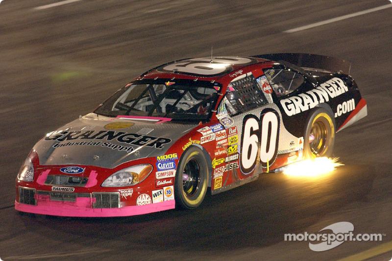 Greg Biffle lights up Richmond as he speeds through turn 2