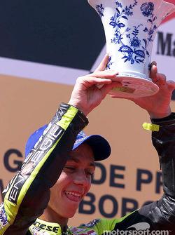 El ganador de la carrera, Valentino Rossi