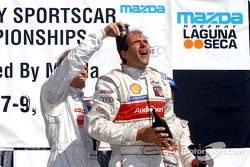 Stefan Johansson and Emanuele Pirro on the podium