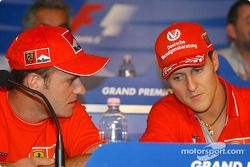 Conferenza stampa Giovedì: Rubens Barrichello e Michael Schumacher