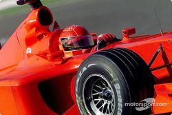 Michael Schumacher, Ferrari F2001; ohne Sponsorenaufkleber