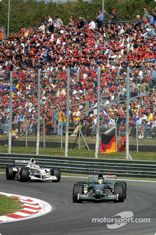 Pedro de la Rosa and Jacques Villeneuve