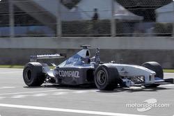 Race winner Juan Pablo Montoya