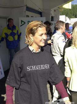 Frau von Bernd Schneider, D2 AMG Mercedes, Mercedes-Benz CLK-DTM