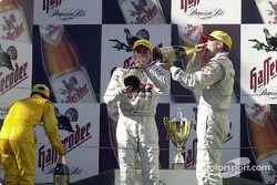 The podium: Laurent Aiello, Bernd Schneider and Uwe Alzen