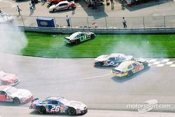 Race action: Ron Hornaday in trouble
