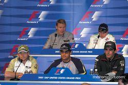 Conferencia de prensa del jueves: Jacques Villeneuve, Juan Pablo Montoya, Pedro de la Rosa, Mika Hakkinen y Kimi Raikkonen