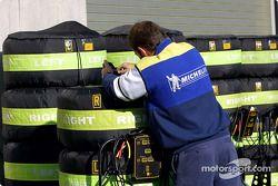 Preparándose para la carrera en Michelin