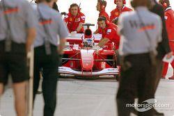 Рубенс Баррикелло перед стартом гонки