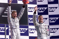 Le podium: Mika Hakkinen et David Coulthard