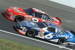 Mark Martin passes Dale Earnhardt Jr.