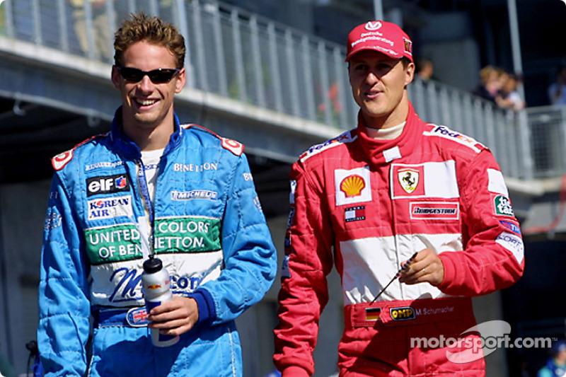 Jenson Button ve Michael Schumacher