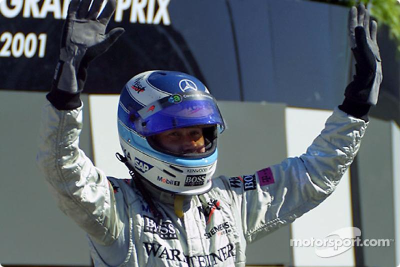 Mika Hakkinen se llevó su última victoria en Fórmula 1 en Indianápolis 2001