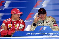 Conférence de presse: Michael Schumacher et Mika Hakkinen
