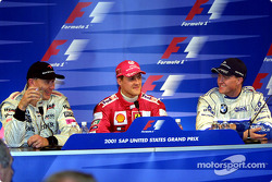 Conférence de presse: Mika Hakkinen, Michael Schumacher et Ralf Schumacher