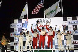 GT podium: Bill Auberlen, Boris Said III and Hans Stuck