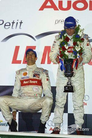 LMP900 podium: Emanuele Pirro and Frank Biela