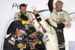 Champagne on the GTS podium