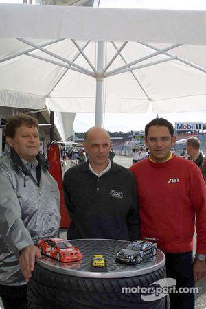 Norbert Haug, Volker Strycek et Christian Abt