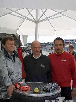 Die Sportchefs: Norbert Haug, Mercedes; Volker Strycek, Opel; Christian Abt, Abt-Audi